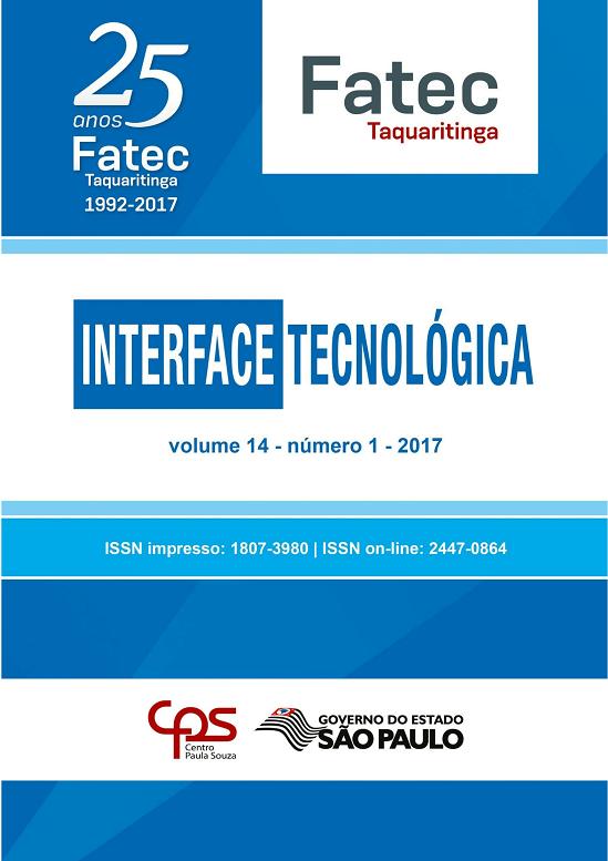 Visualizar v. 14 n. 1 (2017): Revista Interface Tecnológica