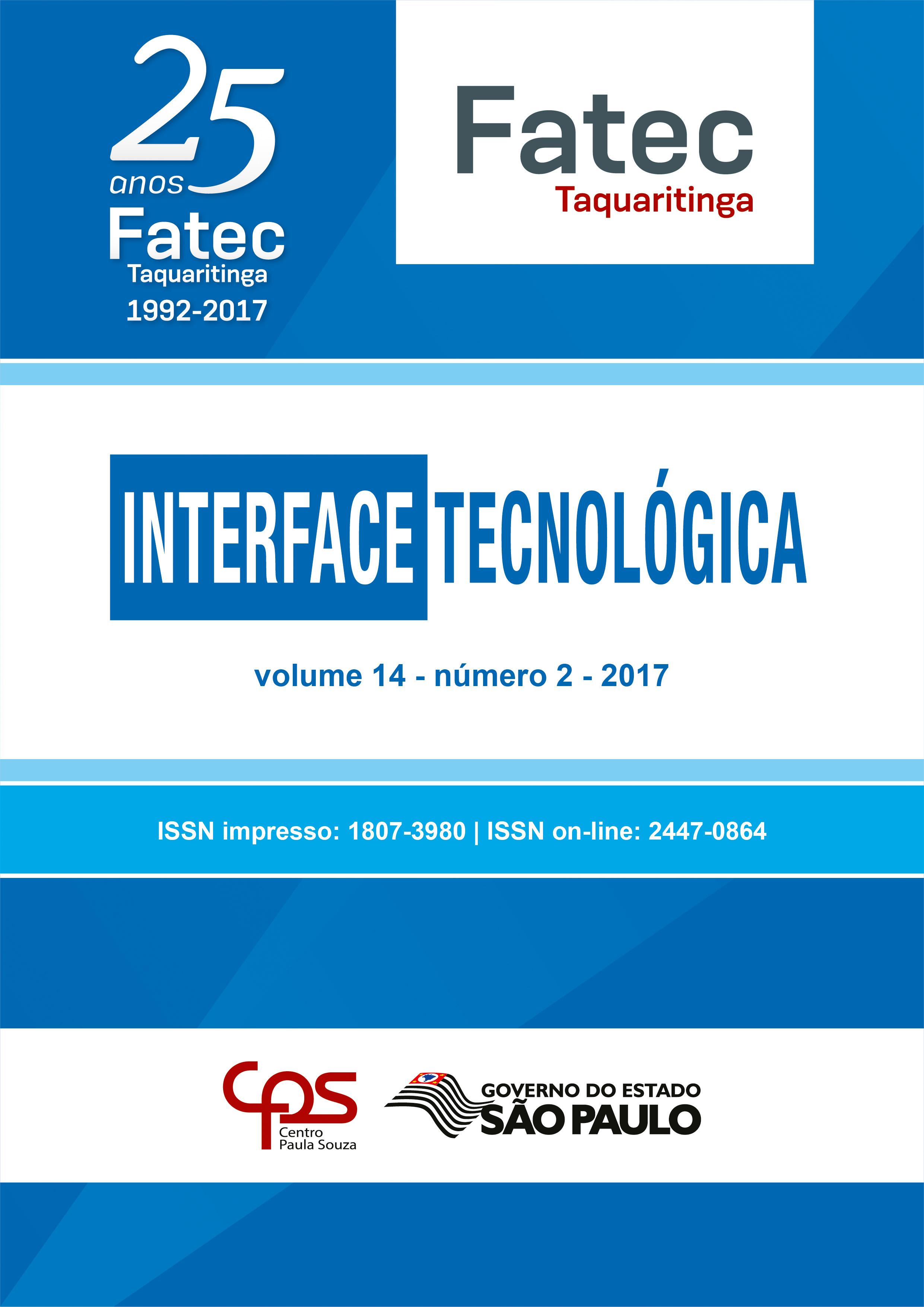 Visualizar v. 14 n. 2 (2017): Revista Interface Tecnológica