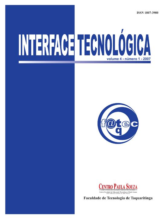 Visualizar v. 4 n. 1 (2007): Revista Interface Tecnológica