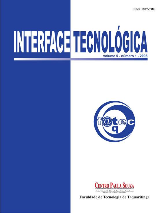 Visualizar v. 5 n. 1 (2008): Revista Interface Tecnológica