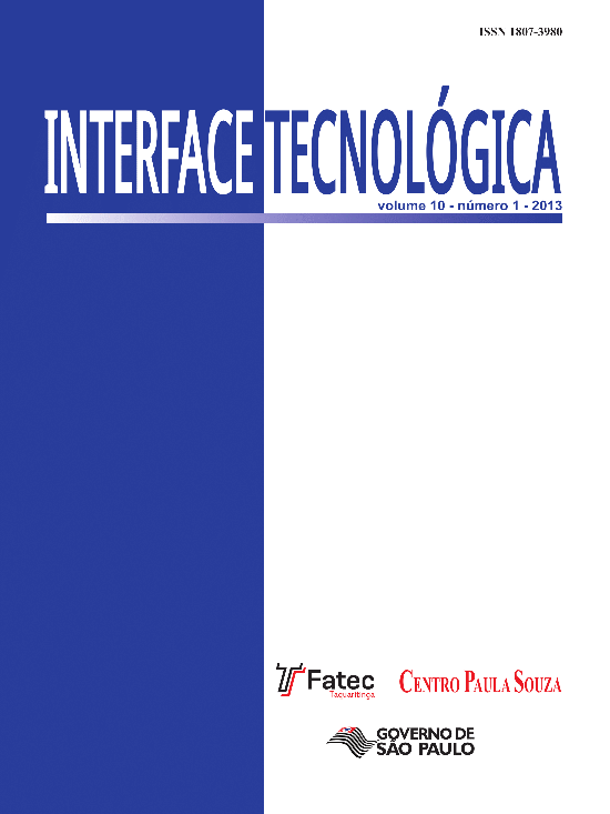 Visualizar v. 7 n. 1 (2010): Revista Interface Tecnológica