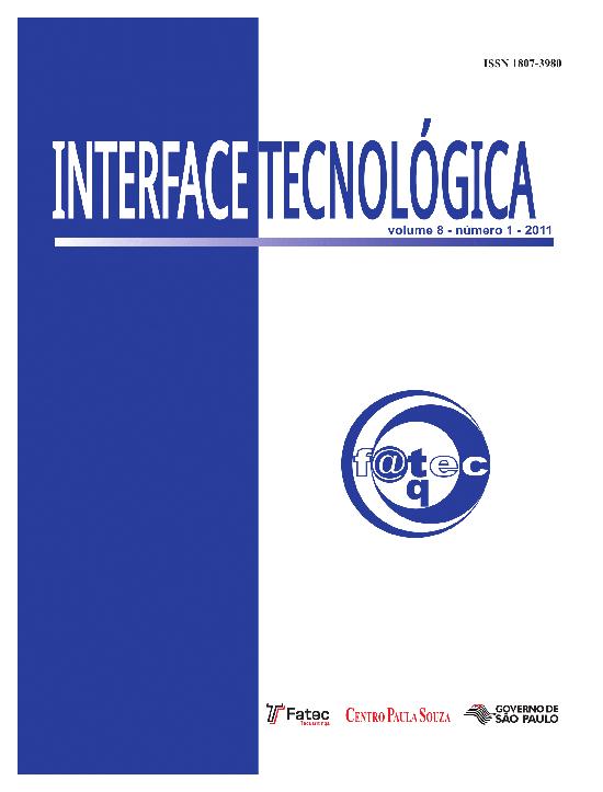 Visualizar v. 8 n. 1 (2011): Revista Interface Tecnológica