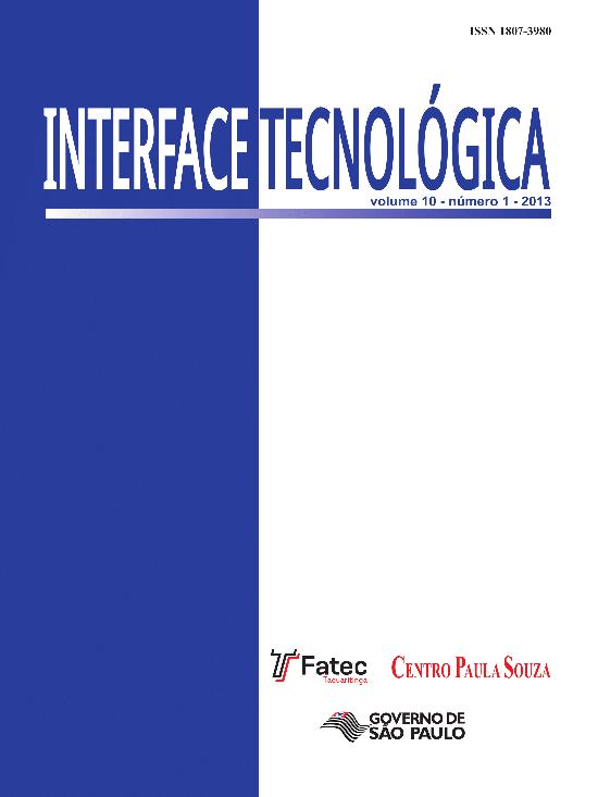 Visualizar v. 10 n. 1 (2013): Revista Interface Tecnológica