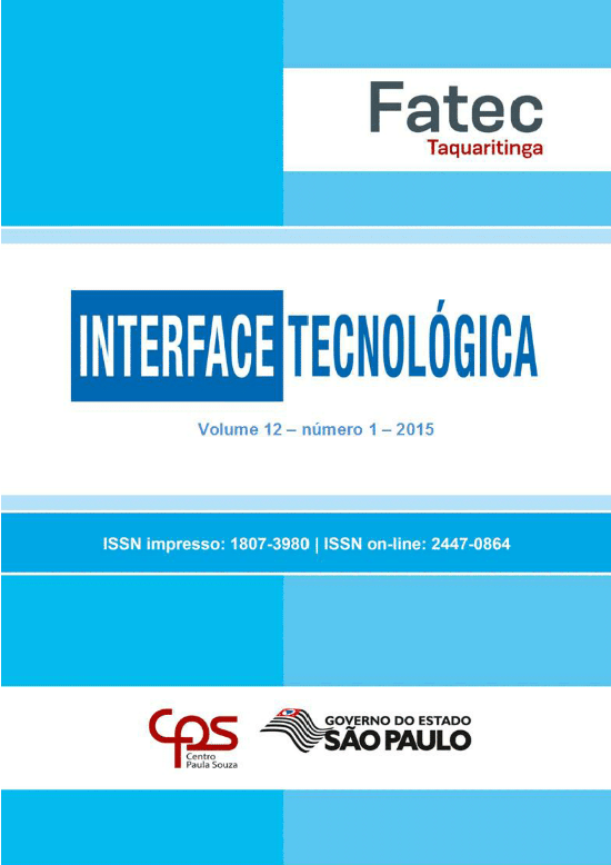 Visualizar v. 12 n. 1 (2015): Revista Interface Tecnológica